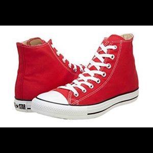 Red Chucks.